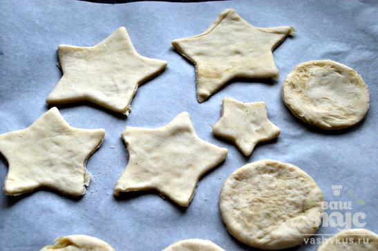 Ореховое печенье из слоеного теста