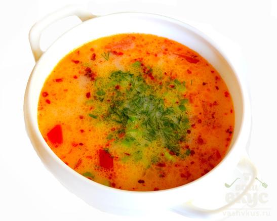 Сливочный суп с булгуром