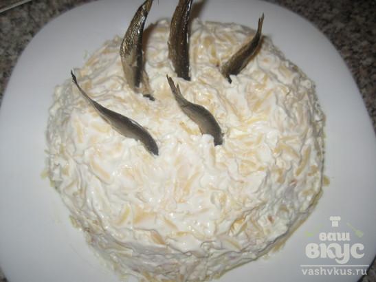"""Салат со шпротами """"Рыбки в пруду"""""""
