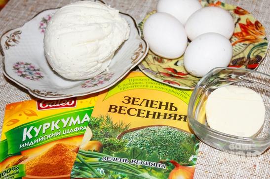 Домашний твердый плавленный сыр с куркумой