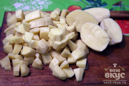 Постный борщ с фасолью