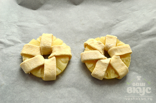 Слойки с ананасами