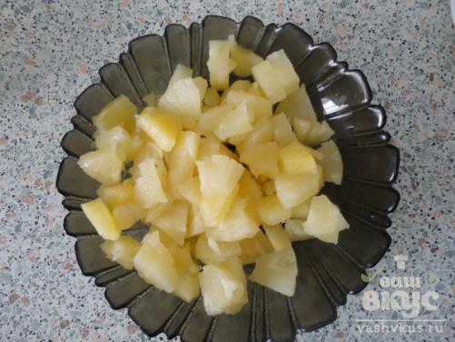 Торт «Райское наслаждение» с ананасом