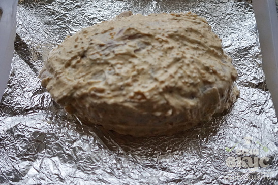 Мясо с беконом в духовке