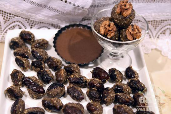 Конфеты с орехами и финиками