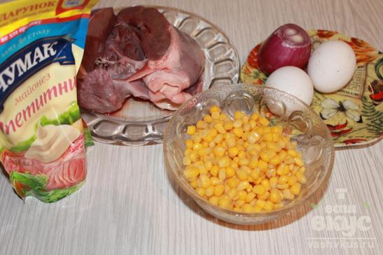 """Салат со свиным сердцем """"Завтрак шахтера"""""""