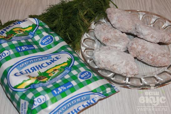 Гречаники в молочном соусе с укропом