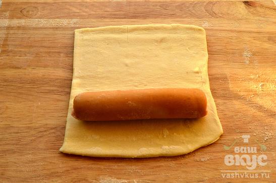 Сосиски в слоеном бездрожжевом тесте