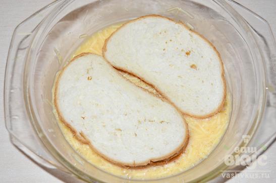 Сырные гренки с зеленым луком