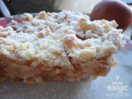 Яблочный насыпной пирог