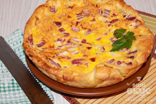 Французский сырно - луковый пирог
