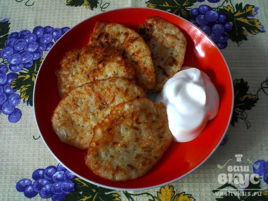 Картофельно - кабачковые оладьи
