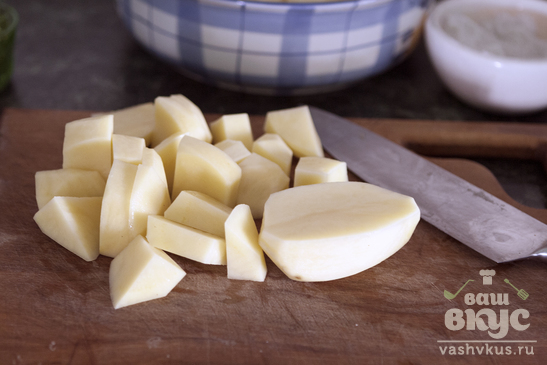 Картофель в электровоке