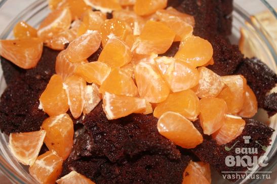 Десерт из бисквита на кипятке