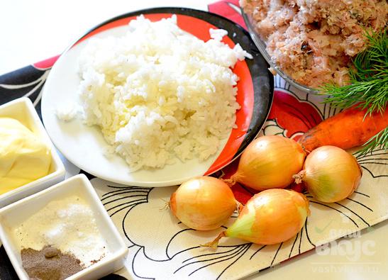 Рыбные тефтели с рисом