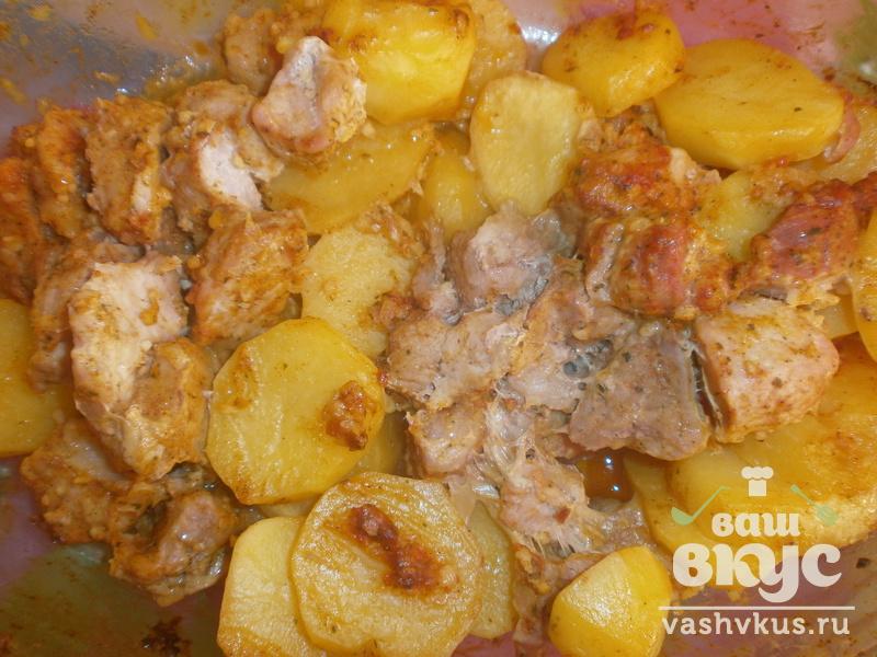 Картошка с мясом в форме