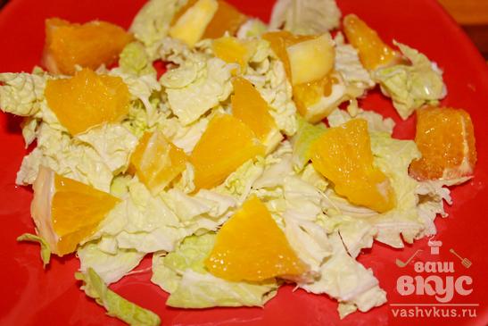 Витаминный салат с апельсинами и мятой
