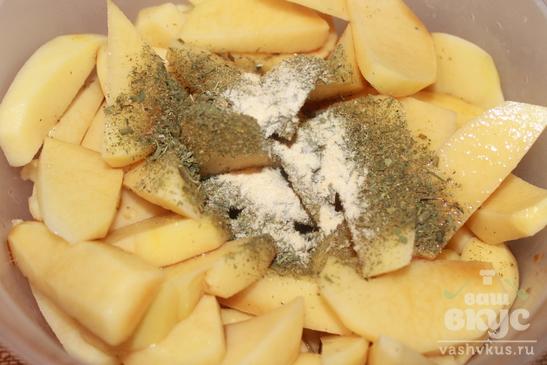 Печеный картофель в соевом соусе