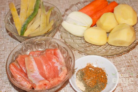 Суп с красной рыбой и стручковой фасолью