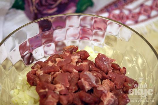 Дамплин со свининой и тыквой в бульоне