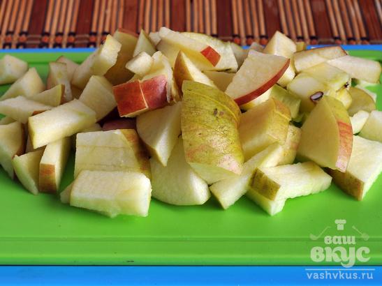 Яблочно - брусничный морс с каркаде