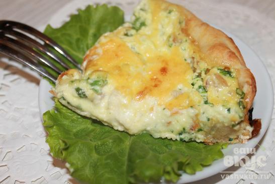 Пирог с плавленным сыром