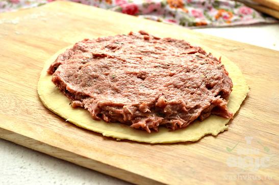 Открытый мясной мини - пирог