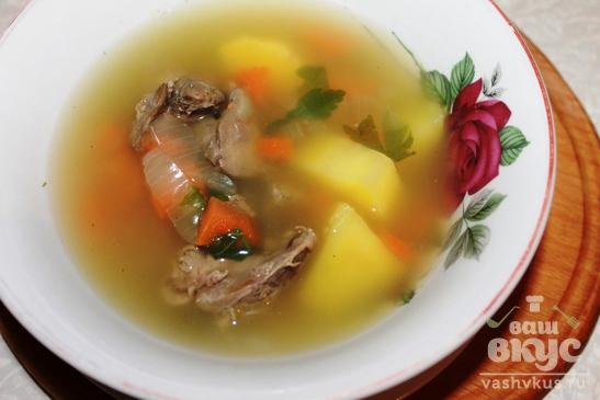 Быстрый суп с куриной печенью