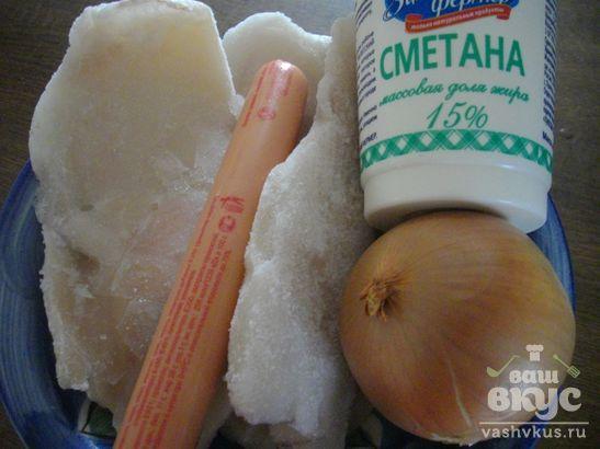 Кальмары в томатно - сметанном соусе