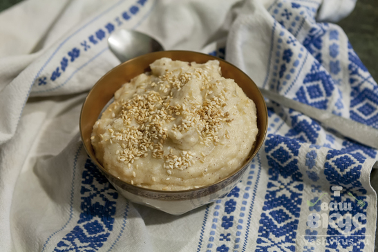Рисовый пудинг с кунжутом