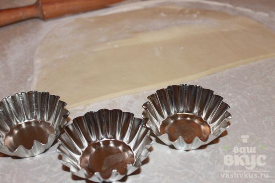Слоеные корзинки с печенью