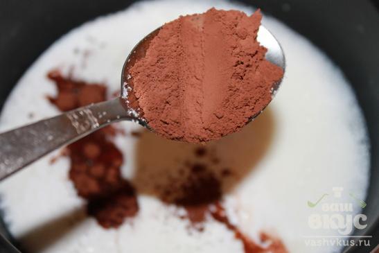 Сладкий горячий шоколад
