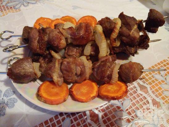 Шашлык из свинины в аэрогриле