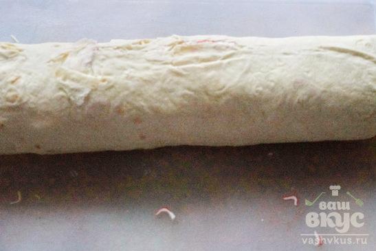 Быстрая закуска из лаваша с крабовыми палочками