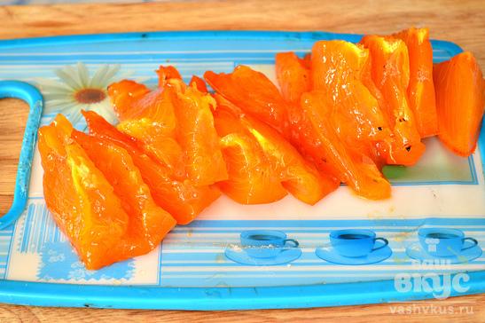 Десерт из апельсина и хурмы