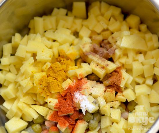 Суп с консервированной фасолью и горошком