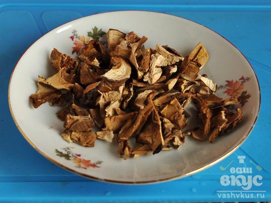 Гречневая каша с чечевицей и грибами