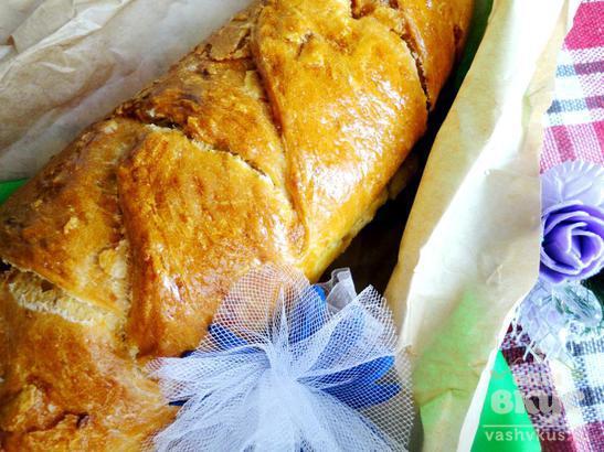 Пироги на пиве с яблочно-ореховой начинкой