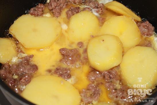 """Картофель с фаршем и яйцом """"Сытный"""""""