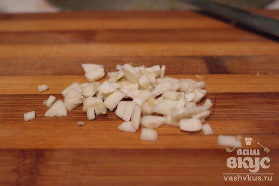 Картофель с салом и чесноком
