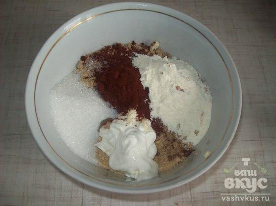 Быстрый пирог с творожной начинкой
