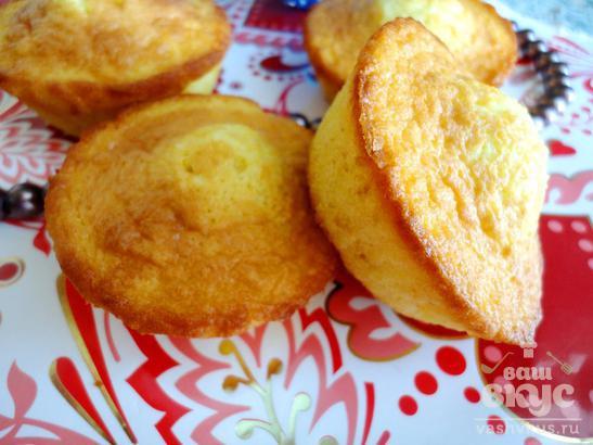 Нежные кексы с цедрой апельсина