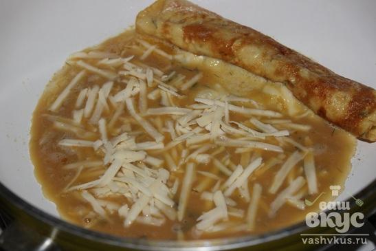 Омлет по-японски с соевым соусом, сыром и укропом