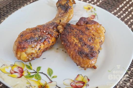 Куриные ножки и крылышки в соусе