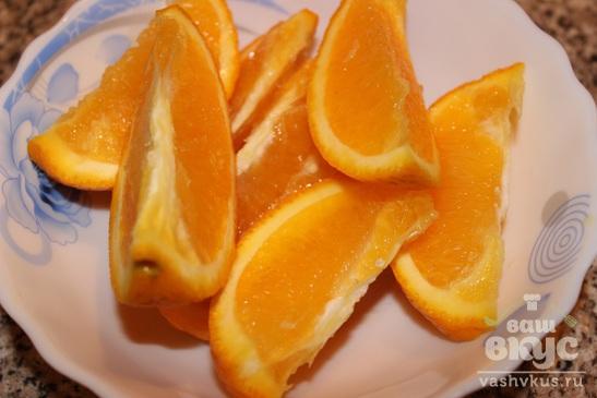Тарт с апельсином