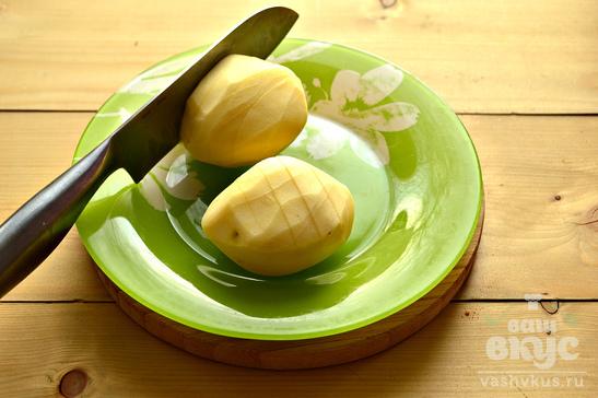 Картофель, запеченный с беконом