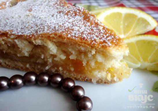 Сметанный пирог с лимонной начинкой