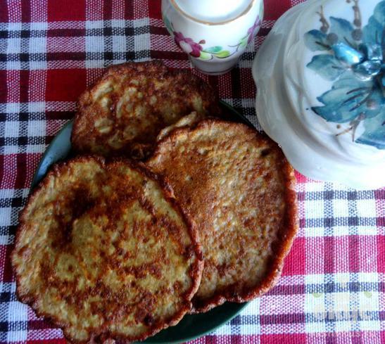 Печеночные оладьи с плавленным сыром