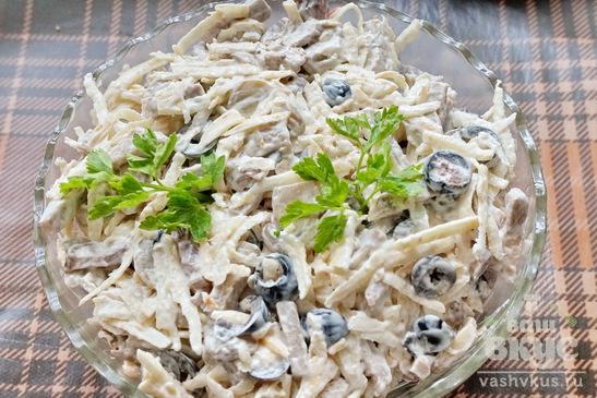 Салат из корня сельдерея и грибов