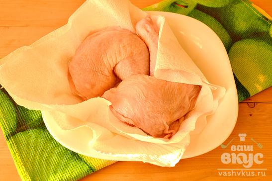 Куриные окорочка, запеченные в рукаве в остром маринаде